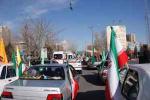 راهپیمایی ۲۲ بهمن به صورت خودرویی و موتوری در تبریز برگزار شد